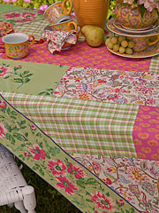 Bright Patchwork Tablecloth