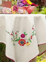 Garden Emb Topper Cloth