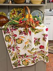 Farm Fresh Tablecloth - Ecru