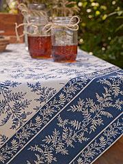 Fern Tablecloth - Navy