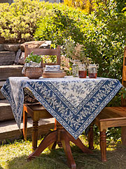 Fern Tablecloth - Navy