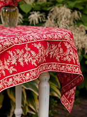 Fern Tablecloth - Red