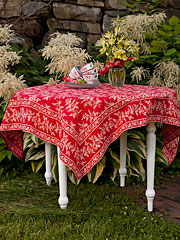 Fern Tablecloth - Red