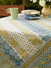 French Lotus Tablecloth
