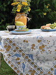 Garden Sparrow Tablecloth