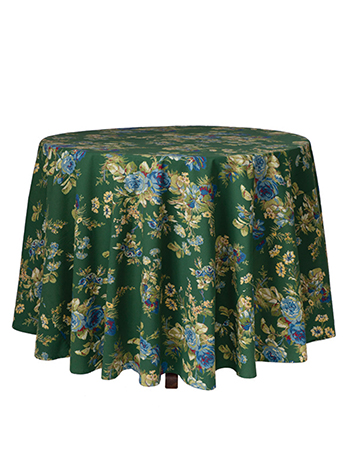 Heirloom Rose Round Cloth - Green