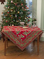 Holly Tablecloth