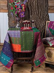 Jewel Kantha Tablecloth