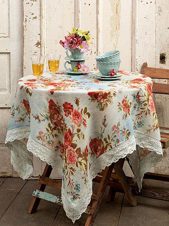 Heirloom Rose Linen Tablecloth