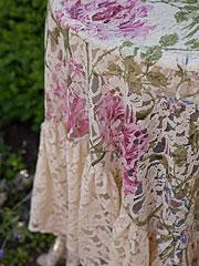 Rose Nouveau Lace Topper Cloth