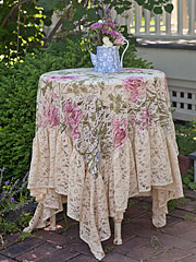 Rose Nouveau Lace Topper Cloth