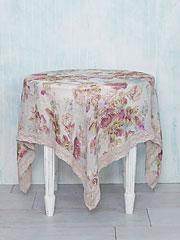 Victorian Rose Linen Tablecloth Linens Amp Kitchen
