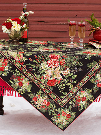 Merry Tablecloth - Black