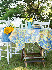 In Full Bloom Breakfast Oil Cloth