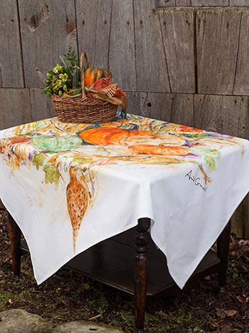 Pumpkins & Pheasant Tablecloth