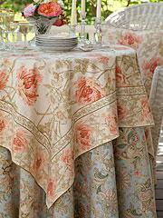Rose Nouveau Tablecloth - Antique