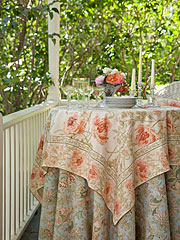 Rose Nouveau Tablecloth - Antique