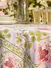 Rose Nouveau Tablecloth - Orchid