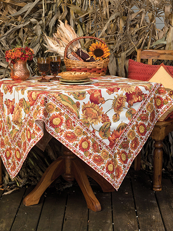 Sunflower Tablecloth - Ecru
