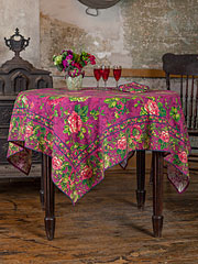 Tea Rose Tablecloth - Plum