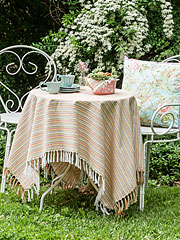 Confetti Stripe Tablecloth
