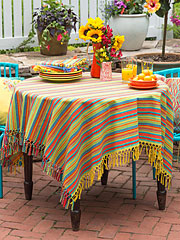 Fiesta Stripe Tablecloth