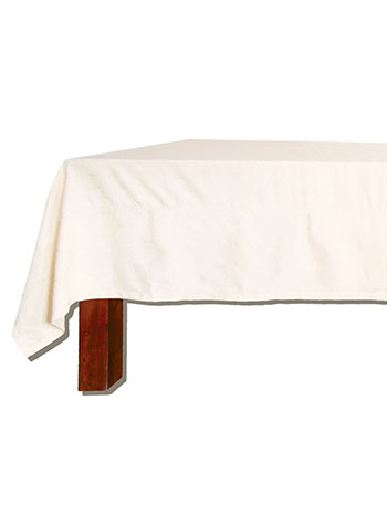 Harmony Solid Jacquard Tablecloth - Ecru