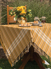 Honey Plaid Tablecloth