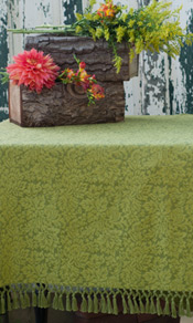 Melody Jacquard Tablecloth - Green