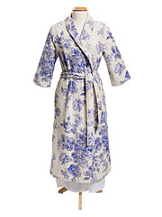 Victorian Rose Terry Robe - SoftBlue