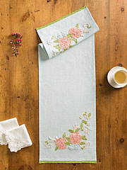 Charlotte's Chenille Emb Table Scarf