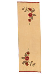Sunflower Embroidered Table Scarf