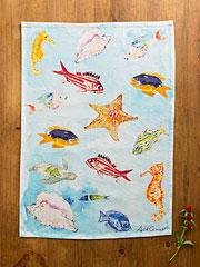 April's Reef Tea Towel