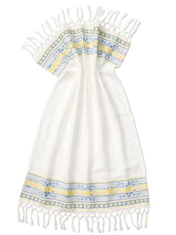 French Jacquard Guest Towel - YellowBlue