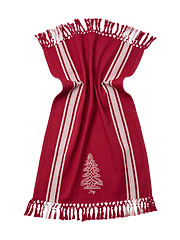 Joy Embroidered Tea Towel - Red