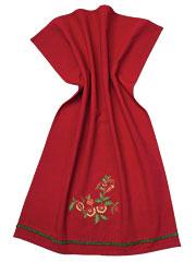 Joyful Embroidered Tea Towel