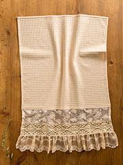 Romantic Lace Tea Towel - Antique