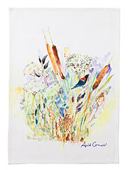 March Marsh Watercolor Tea Towel