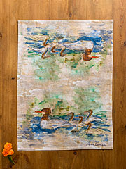 Mergansers Tea Towel
