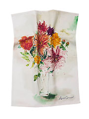 Mums Watercolor Tea Towel