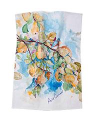 Pears Water Color Tea Towel