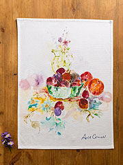 Peaches & Plums Tea Towel