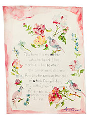 Mother Poem Tea Towel