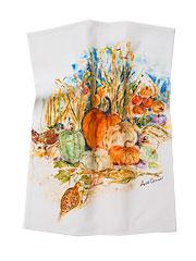 Pumpkins & Pheasant Tea Towel