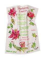 Short Bread Cookie Watercolor Tea Towel