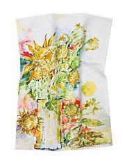 Sparrow Sunflower Tea Towel