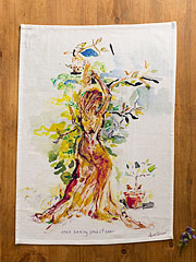 Tree Saving Priestess Tea Towel